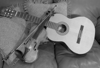 BW Guitar and Violin